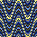 Wavy Blue Textile Pattern stock illustration