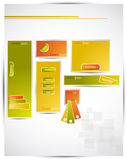 Artistic web banners. Artistic banners and graphics for web developers Royalty Free Stock Images