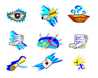 Artistic web icons Stock Images