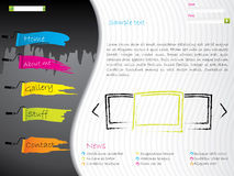 Artistic website template design Royalty Free Stock Images