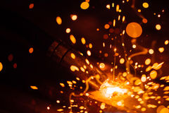 Artistic welding sparks light Stock Image