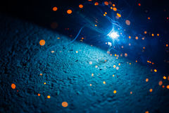 Artistic welding sparks light Royalty Free Stock Photography