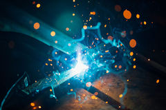 Artistic welding sparks light, industrial background Stock Photography