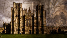 Artistic Wells Cathedral C Fine Art. Texture Mix background Vignette Photography Royalty Free Stock Images