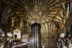 Artistic Wells Cathedral A Fine Art. Texture Mix background Vignette Photography Royalty Free Stock Photo