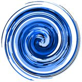 Artistic whirlpool in blue tone isolated Royalty Free Stock Images