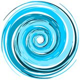 Artistic whirlpool of colors stock illustration