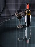 Artistic Wine. Wine bottle and glass with artisic look Stock Photography