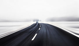 Artistic winter road. And dangerous driving Royalty Free Stock Images