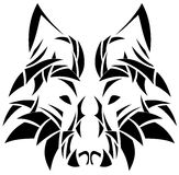 Artistic wolf face tattoo isolated Stock Photos
