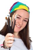 Artistic woman Stock Photography