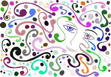 Colorful Artistic woman face royalty free stock image