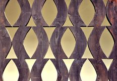 Artistic wooden fence Stock Images