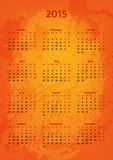Artistic 2015 year vector calendar. Colorful and vivid stock illustration