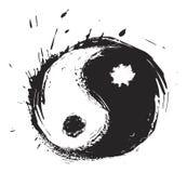 Artistic yin-yang symbol Stock Photography