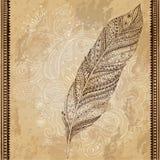 Artistically dragit, stiliserat, stam- vektor Royaltyfria Foton
