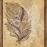 Artistically drawn, stylized, vector tribal Stock Image