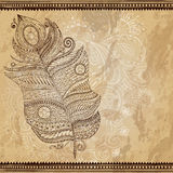Artistically drawn, stylized, vector tribal Royalty Free Stock Photography