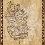 Artistically drawn, stylized, vector tribal Royalty Free Stock Images