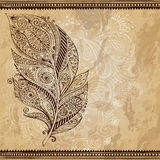 Artistically drawn, stylized, vector tribal Royalty Free Stock Image