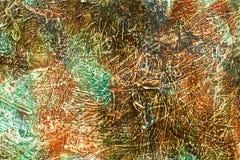 Artistiek abstract acryl trillend geschilderd canvas Royalty-vrije Stock Foto