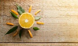 Artistiek beeld van sinaasappel Royalty-vrije Stock Afbeelding