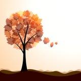 Artistiek de herfstlandschap vector illustratie