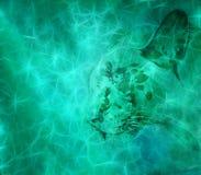 Artistiek Digitaal Dier op een Mistige Kleurrijke Achtergrond vector illustratie
