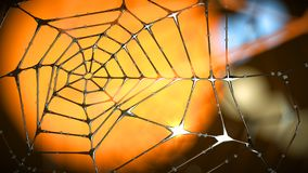 Artistiek eind abstract spinneweb van metaal Stock Illustratie