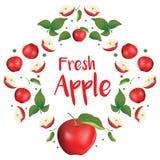 Artistiek en modern rood appelpatroon royalty-vrije illustratie