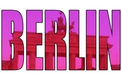 Artistiek geïsoleerd de poortbeeld van Berlijn door tekst royalty-vrije illustratie
