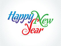 Artistiek Gelukkig Nieuwjaar - Vectorillustratie stock illustratie