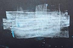 Artistiek gesmeerd wit en blauw Poeder royalty-vrije stock foto