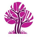 Artistiek gestileerd natuurlijk symbool, creatieve boomillustratie Ca vector illustratie