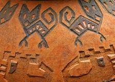 Artistiek grungeaardewerk stock afbeelding