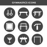 Artistiek gymnastiekmateriaal royalty-vrije illustratie