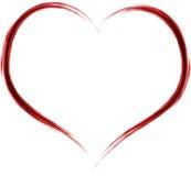 Artistiek hart stock illustratie