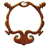 Artistiek houten frame royalty-vrije illustratie