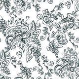 Artistiek naadloos patroon met druif stock illustratie