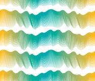 Artistiek naadloos patroon met gestileerde multicolored golf stock illustratie