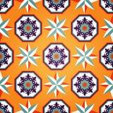 Artistiek Oranje Naadloos Patroon Stock Afbeeldingen