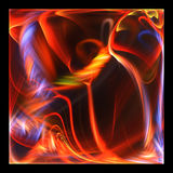 Artistiek patroon met het gloeien fractal Royalty-vrije Stock Foto