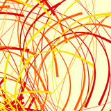 Artistiek patroon met willekeurige, chaotische gebogen lijnen, vervormd zoals stock illustratie