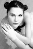 Artistiek portret van ballerine. royalty-vrije stock foto