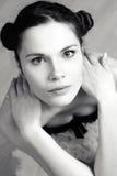 Artistiek portret van ballerine. stock foto's