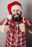 Artistiek portret van de grijze haired Kerstman Stock Fotografie