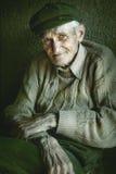 Artistiek portret van de oude hogere mens royalty-vrije stock fotografie
