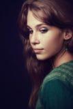 Artistiek portret van sensuele elegante vrouw royalty-vrije stock afbeelding