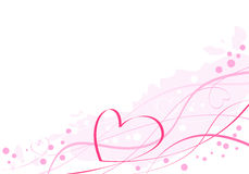 Artistiek roze hart Royalty-vrije Stock Foto