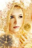 artistiek schoonheidsportret Stock Afbeelding